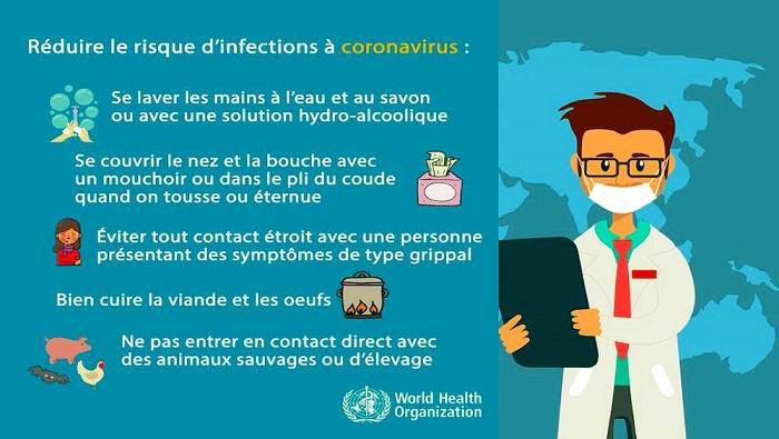 En action contre les virus, de maladie et de peur.
